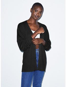 Unisex Basic Knit Cardigan by American Apparel