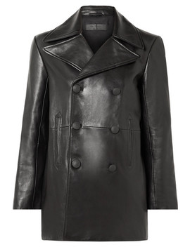Nella Double Breasted Leather Coat by Rag & Bone
