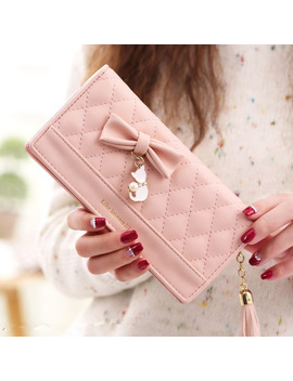 Women Purses Female Tassel Lovely Carteira Feminina Fashion Coin Purse Card Holder Girls Cute Long Clutch Bag Lady Wallet Women by Leinasen