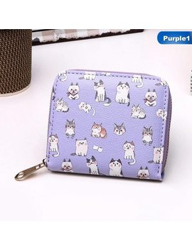 Women Pu Leather Purse Cartoon Long Zipper Wallet Female Cute Animal Standard Money & Card Wallet Carteira by Zhe Fanku