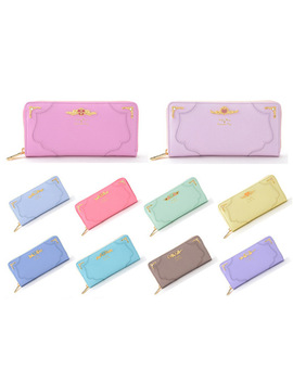 2018 10 Color Fashion Sailor Moon Samantha Vega Luna Cat Wallet Kawaii Long Purse Cute Ladies Pu Leather Wallet by Msmo