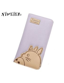 Lovely Long Totoro Women's Purse High Quality Cute Cartoon Wallet Handy Bags For Teenagers Girls Female Ladies Clutch Money Bag by Julicxyj
