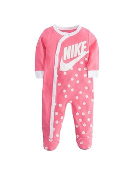 Baby Girl Nike Smiley Swoosh Footed Coverall by Kohl's
