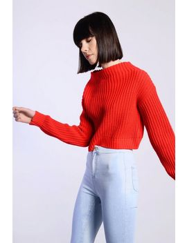 **Cropped Knitted Jumper By Glamorous by Topshop
