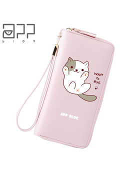 App Blog Long Cute Cartoon Sweet Cat Wallet Bag Coin Purse 2018 New Fashion Fresh Women Girl Clutch Student Femme Lovely Wallets by App Blog