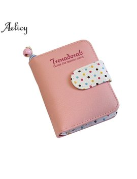 Aelicy Women's Short Wallet Cute Dots Coin Purse Pu Leather Casual Famous Brand Wallet Women High Quality Mini Wallet Female by Aelicy