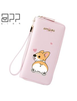 App Blog Funny Cute Dog Women's Purse For Coin Card Cash Invoice Phone Bag 2018 New Clutch Leather Girl Student Female Wallet  by App Blog