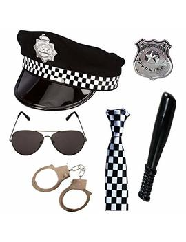 Police 6 Piece Fancy Dress Set By Paper Umbrella by Paper Umbrella