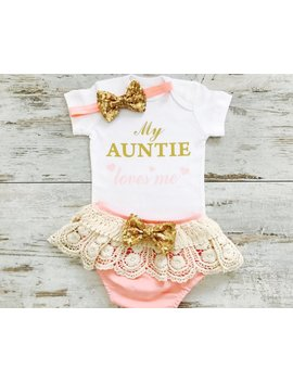 Baby Girl Clothes, Aunt Baby Clothes, Aunt Niece Gift, Baby Niece Gift, Aunt Niece Shirts, Baby Girl Clothes Aunt, Newborn Girl Outfit Aunt by Etsy