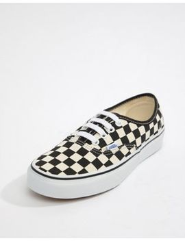 Vans Authentic Black And White Checkerboard Trainers by Vans