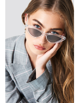 Transparent Cateye Sunglasses by Na Kd Accessories