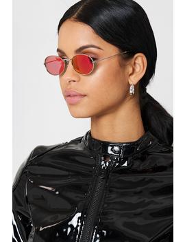 Oval Metal Sunglasses by Na Kd