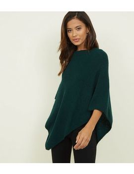 Jdy Dark Green Knitted Poncho by New Look
