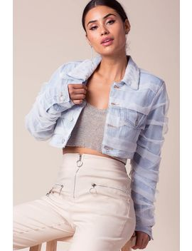 Dominique Denim Tulle Jacket by A'gaci