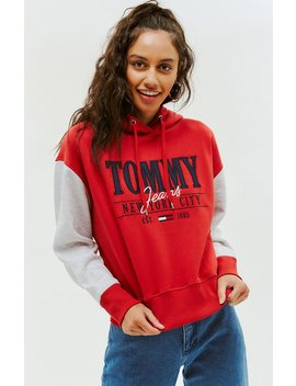 Tommy Jeans Cropped Logo Hoodie by Pacsun