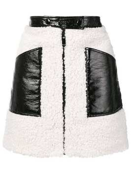 Courrègesfaux Shearling Mini Skirthome Women Courrèges Clothing A Line Skirts by Courrèges