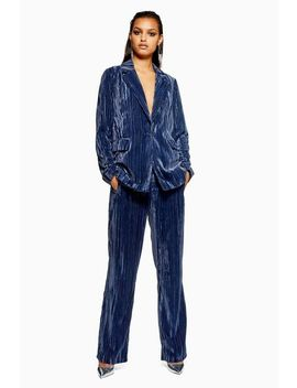 Crinkle Velvet Trousers by Topshop