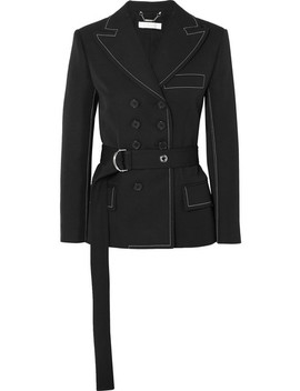 Belted Double Breasted Twill Blazer by Chloé