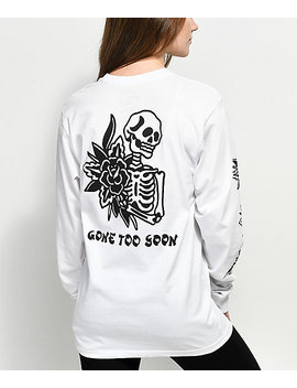 Dropout Club Intl. X Kyle Grand Soon White Long Sleeve T Shirt by Dropout Club Intl