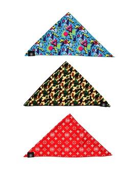 Small Multi Bandanna Hype Pack   Set Of 3 by Fresh Pawz