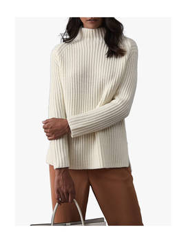 Reiss Sonia Chunky Ribbed Jumper, Off White by Reiss
