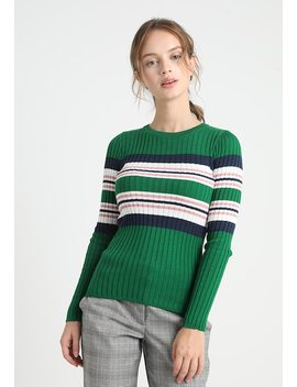 Placement Stripe Crew   Langærmede T Shirts by New Look Petite