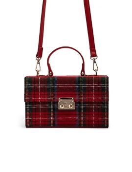 Plaid Box Satchel by Forever 21