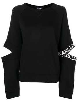 Cut Out Sweatshirt by Karl Lagerfeld
