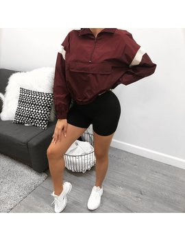 Tessa Windbreaker (Burgundy) by Laura's Boutique