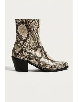 "Urban Outfitters – Stiefel ""Bronco"" Im Westernstyle Mit Schlangenprint by Urban Outfitters Shoppen"