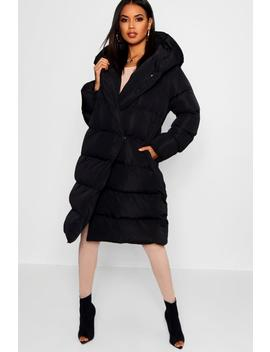 Wrap Duvet Coat by Boohoo