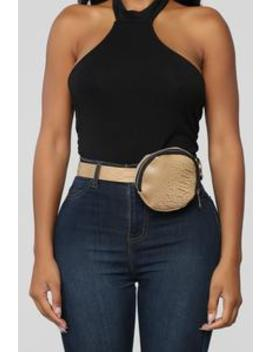Total Convenience Fanny Pack   Beige by Fashion Nova