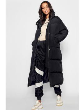 tall-longline-padded-coat by boohoo