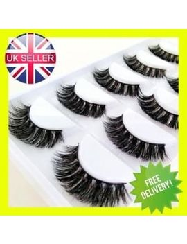 3 D Mink Eyelashes Luxury 5 Pairs Wispy Thick False Long Layered Lashes Makeup Uk by Ebay Seller