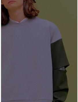 [Unisex]Cta3 Slit Unisex Sweatshirts Gray by Citybreeze