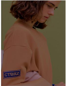 [Unisex]Cta3 Slit Unisex Sweatshirts Beige by Citybreeze