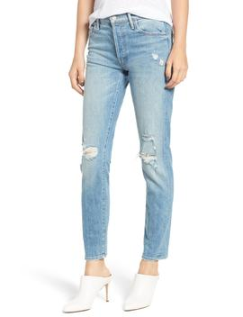 The Stinger Flood Slim Straight Leg Jeans by Mother