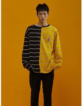[Unisex] Half N Half Long Sleeves Black by Sewing Boundaries