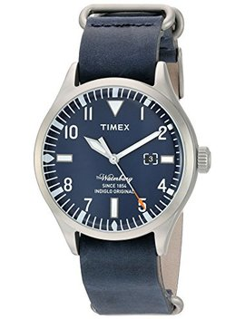 Timex Men's 'the Waterbury' Quartz Stainless Steel And Leather Casual Watch, Color:Blue (Model: Tw2 P64500 Za) by Timex