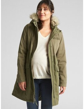 Maternity Satin Lined Parka by Gap