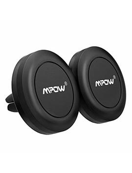 Magnetic Car Phone Mount, Mpow [2 Pack] Universal Air Vent Car Mount Phone Holder, Strong Magnet Phone Mount Holder For Cell Phones And Mini Tablets, With 4 Metal Plates by Mpow