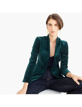 Going Out Blazer In Stretch Velvet by J.Crew