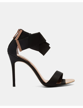 Knotted Bow Satin Sandals by Ted Baker