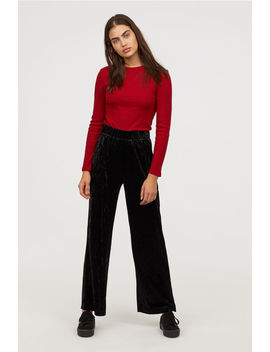 Wide Cut Pull On Pants by H&M