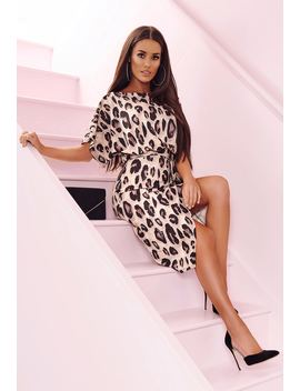 So Wild Multi Animal Print Lurex Belted Wrap Front Midi Dress by Pink Boutique
