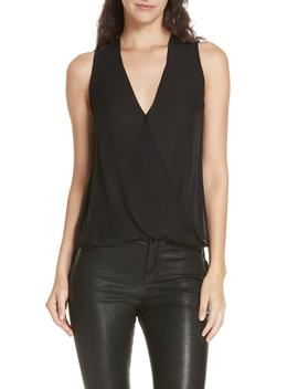 Mila Draped Silk Surplice Blouse by L'agence