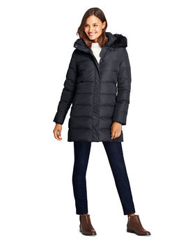 Women's Petite Winter Long Down Coat by Lands' End