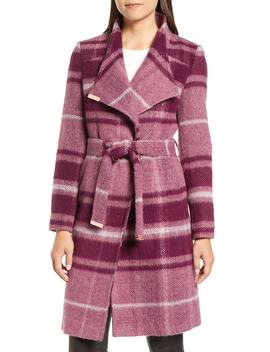 Check Wrap Coat by Ted Baker London