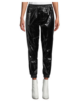 Finn Patent Ankle Track Pants by Rt A