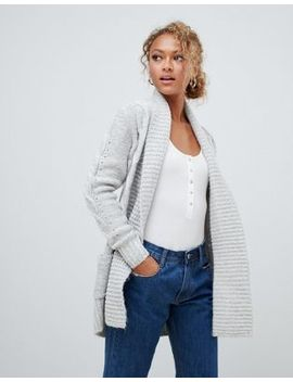 New Look Cable Cardigan In Grey by New Look